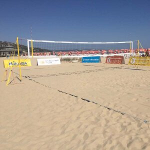 Pro Beach Netz PLUS, 8,5 m weiß - beach-volleyball.de